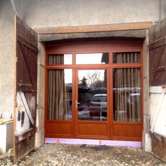 Porte fenêtre en bois Bieber pour rénovation