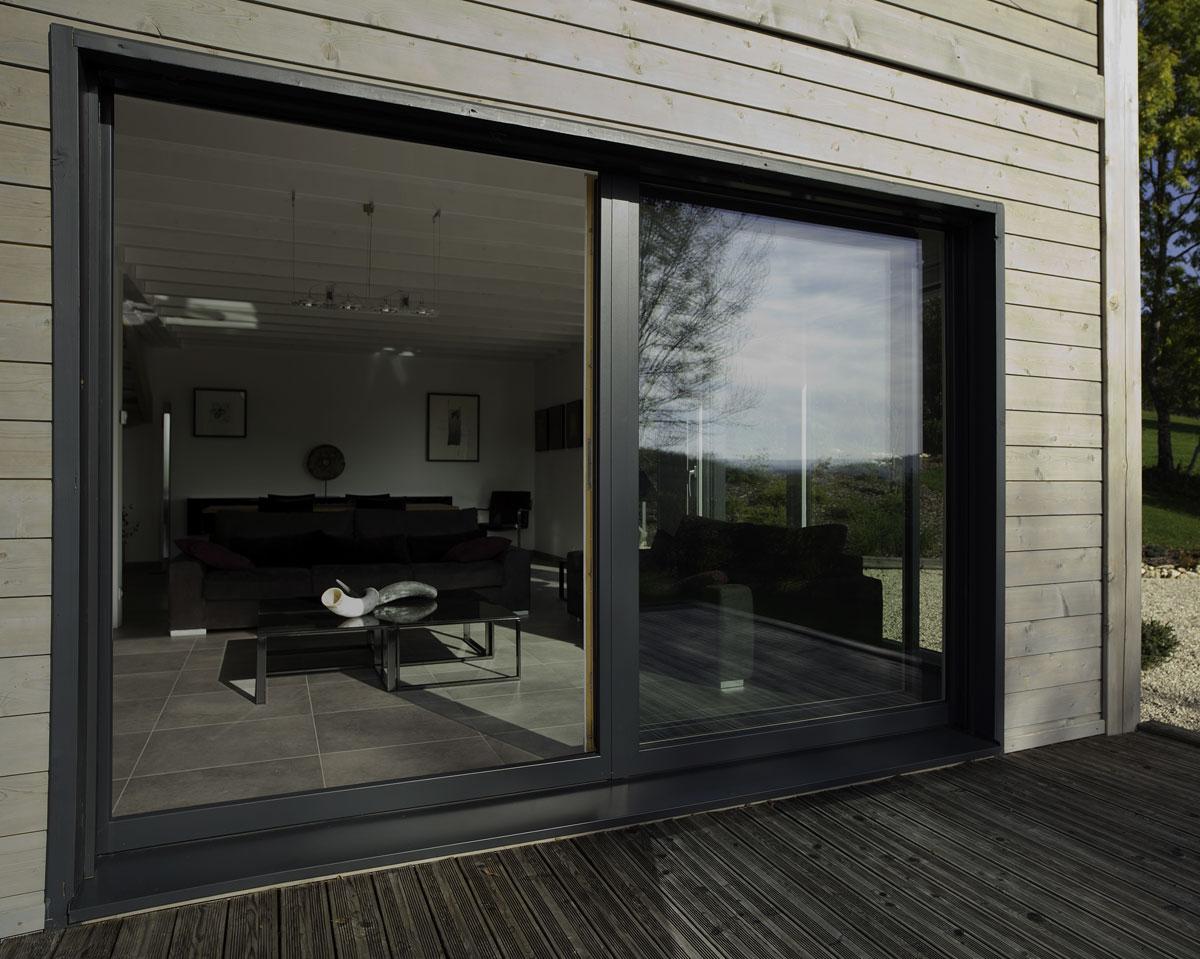 Porte fenêtres bois alu Egokiefer